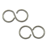 Stainless Steel Connector, 316 Stainless Steel, Infinity, 1/1 loop, original color, nickel, lead & cadmium free, 10x5x0.60mm, Hole:Approx 4mm, 2000PCs/Lot, Sold By Lot