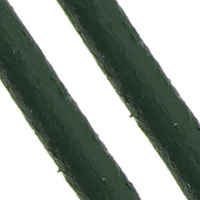 Cowhide Cord, deep green, nickel, lead & cadmium free, 2mm, Length:Approx 100 m, Sold By PC