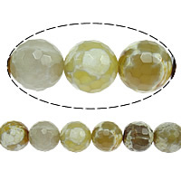 Natural Fire Crackle Agate Beads, Fire Agate, Round, faceted, 6mm, Hole:Approx 1mm, Length:Approx 15 Inch, 10Strands/Lot, Approx 62PCs/Strand, Sold By Lot