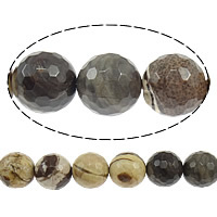 Zebra Jasper Beads, Round, Australia Imported & faceted, 10mm, Hole:Approx 1mm, Length:Approx 15 Inch, 10Strands/Lot, Approx 37PCs/Strand, Sold By Lot