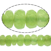 Natural Marble Beads, Dyed Marble, Rondelle, faceted, green, 2x4mm, Hole:Approx 0.5mm, Length:Approx 15 Inch, 10Strands/Lot, Approx 160PCs/Strand, Sold By Lot