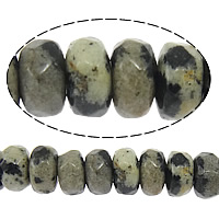 Natural Dalmatian Beads, Rondelle, faceted, 2x4mm, Hole:Approx 0.5mm, Length:Approx 15 Inch, 10Strands/Lot, Approx 160PCs/Strand, Sold By Lot