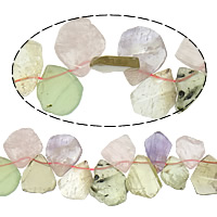 Crackle Quartz Beads, Rainbow Quartz, Nuggets, mixed colors, 17-23x19-28mm, Hole:Approx 1mm, Length:Approx 15 Inch, 10Strands/Lot, Approx 38PCs/Strand, Sold By Lot