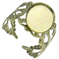 Brass Bezel Ring Base, antique bronze color plated, nickel, lead & cadmium free, 18x21x16mm, Size:6.5, 50PCs/Bag, Sold By Bag