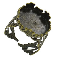 Brass Bezel Ring Base, antique bronze color plated, nickel, lead & cadmium free, 16x6mm, Size:8, 50PCs/Bag, Sold By Bag