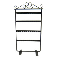 Iron Earring Display, Rack, painted, black, nickel, lead & cadmium free, 165x305mm, 5PCs/Lot, Sold By Lot
