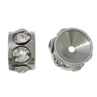 Ruostumaton teräs Välike helmiä, Rondelli, tekojalokivi, alkuperäinen väri, nikkeli, lyijy ja kadmium vapaa, 3.50x6mm, Reikä:N. 0.5mm, 100PC/erä, Myymät erä