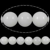 Natural Marble Beads, Dyed Marble, Round, white, 10mm, Hole:Approx 1mm, Length:15.5 Inch, 10Strands/Lot, 39PCs/Strand, Sold By Lot