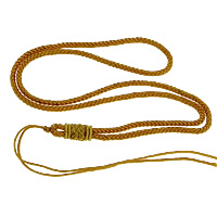 Fashion Necklace Cord, Nylon Cord, yellow, 3mm, Length:Approx 26 Inch, 100Strands/Lot, Sold By Lot