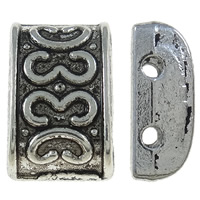 Zinc Alloy Spacer Bar, Rectangle, antique silver color plated, 2-strand, nickel, lead & cadmium free, 12.50x8x5mm, Hole:Approx 1.5mm, Approx 665PCs/KG, Sold By KG