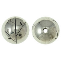 Copper Coated Plastic Beads, Round, antique silver color plated, lead & cadmium free, 30mm, Hole:Approx 4mm, Sold By PC