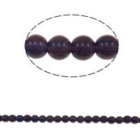 Okrągłe kryształowe koraliki, Kryształ, Koło, fiolet, 8mm, otwór:około 1.5mm, długość:12 cal, 10nici/torba, sprzedane przez torba