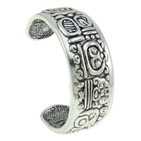 Zinc Alloy Cuff Bangle, antique silver color plated, nickel, lead & cadmium free, 61x54x21mm, Length:Approx 6.5 Inch, Sold By PC