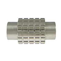 Stainless Steel Magnetic Clasp, Column, original color, 18x10mm, Hole:Approx 6mm, 10PCs/Lot, Sold By Lot
