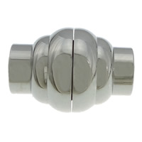 Stainless Steel Magnetic Clasp, original color, 15x11mm, Hole:Approx 5mm, 50PCs/Lot, Sold By Lot