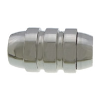 Stainless Steel Magnetic Clasp, original color, 17.50x10mm, Hole:Approx 6mm, 50PCs/Lot, Sold By Lot