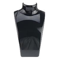 Organic Glass Necklace Display, black, 135x210x60mm, 12PCs/Lot, Sold By Lot