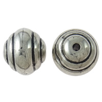 Copper Coated Plastic Beads, Drum, antique silver color plated, lead & cadmium free, 27x30mm, Hole:Approx 4mm, 20PCs/Bag, Sold By Bag