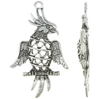 Zinc Alloy Animal Pendants, Bird, antique silver color plated, nickel, lead & cadmium free, 27.50x47x4.50mm, Hole:Approx 2.5mm, Approx 270PCs/KG, Sold By KG