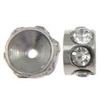 Ruostumaton teräs Välike helmiä, 303 Stainless Steel, Rondelli, tekojalokivi, alkuperäinen väri, 2.40x4mm, Reikä:N. 1mm, 100PC/erä, Myymät erä