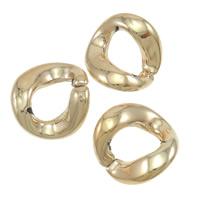 Akrylowy Pierścień łączący, Akryl, skręt, Platerowane kolorem rożowego złota, 23x22.50mm, 300komputery/torba, sprzedane przez torba