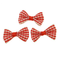 Iron on Patches, Cloth, Bowknot, red, 28-30x18mm, 200PCs/Bag, Sold By Bag