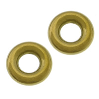 Roestvrij staal ring connectors, 304 roestvrij staal, Donut, gold plated, 12.50x3.50mm, Gat:Ca 5.5mm, 100pC's/Lot, Verkocht door Lot
