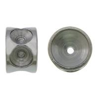Stainless Steel Helmet asetus, 304 Stainless Steel, Rondelli, alkuperäinen väri, 4x6mm, Reikä:N. 0.5mm, Sisäläpimitta:N. 2.8mm, 200PC/erä, Myymät erä
