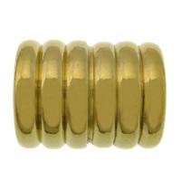 Elementy bransolety ze stali nierdzewnej, Stal nierdzewna 304, Rurka, Platerowane w kolorze złota, 14x11.50mm, otwór:około 6mm, 100komputery/wiele, sprzedane przez wiele