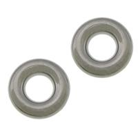 Roestvrij staal ring connectors, 304 roestvrij staal, Donut, oorspronkelijke kleur, 12.50x3.50mm, Gat:Ca 5.5mm, 100pC's/Lot, Verkocht door Lot