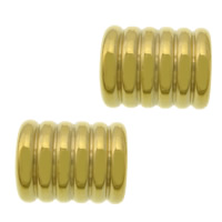 Stainless Steel Bracelet Finding 304 Stainless Steel Tube gold color plated 11x9mm Hole:Approx 6mm 100PCs/Lot
