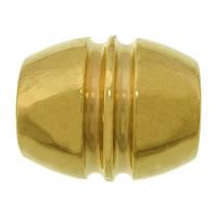 Roestvrijstaal Grote Gat Kralen, 304 roestvrij staal, Ovaal, gold plated, groot gat, 15x13mm, Gat:Ca 6mm, 50pC's/Lot, Verkocht door Lot