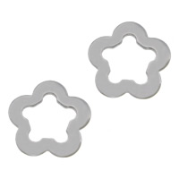 304 Stainless Steel Findings, Flower, original color, 12x12x1mm, 500PCs/Lot, Sold By Lot