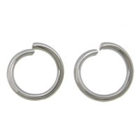Stainless Steel Open Ring, 304 Stainless Steel, original color, 7.50x7.50x1mm, Approx 10000PCs/Lot, Sold By Lot