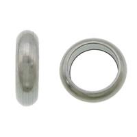 Roestvrijstaal Grote Gat Kralen, 304 roestvrij staal, Donut, groot gat, oorspronkelijke kleur, 2x6mm, Gat:Ca 4mm, 1000pC's/Lot, Verkocht door Lot