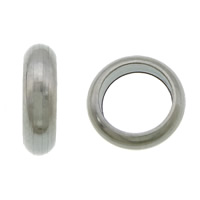Roestvrijstaal Grote Gat Kralen, 304 roestvrij staal, Donut, groot gat, oorspronkelijke kleur, 2x7mm, Gat:Ca 5mm, 1000pC's/Lot, Verkocht door Lot