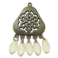 Acrylic Pendants, Zinc Alloy, with Acrylic, antique bronze color plated, lead & cadmium free, 26x44x7mm, Hole:Approx 2mm, Sold By PC