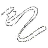 Iron Necklace Chain, with 6.5cm extender chain, plumbum black color plated, nickel, lead & cadmium free, 6x3x1mm, Length:Approx 28 Inch, 20Strands/Bag, Sold By Bag