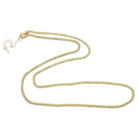 Iron Necklace Chain, with 6cm extender chain, gold color plated, rope chain, nickel, lead & cadmium free, 4mm, Length:Approx 29 Inch, 20Strands/Bag, Sold By Bag
