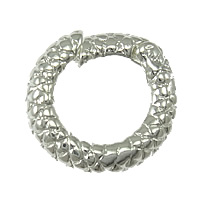 Zinc Alloy Jewelry Clasp, Donut, silver color plated, nickel, lead & cadmium free, 14x13x3mm, Hole:Approx 6mm, 100PCs/Lot, Sold By Lot