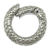 Zinc Alloy Jewelry Clasp, Donut, platinum color plated, nickel, lead & cadmium free, 14x13x3mm, Hole:Approx 6mm, 100PCs/Lot, Sold By Lot
