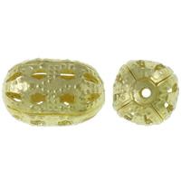 Ontto Brass Helmet, Messinki, Soikea, kullan väri kullattu, lyijy ja sen kadmium vapaa, 11x15mm, Reikä:N. 1mm, 500PC/KG, Myymät KG