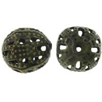 Holle Brass Beads, Messing, Ronde, antiek brons plated, lood en cadmium vrij, 8mm, Gat:Ca 1mm, 1000pC's/Bag, Verkocht door Bag