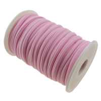 Elastic Thread, Nylon, pink, 4mm, Length:Approx 20 m, Sold By PC