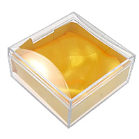 Pudełko na bransoletkę ze szkła organicznego, Szkło organiczne, ze Jedwab, Kwadrat, przejrzysty, 100x100x55mm, 20komputery/wiele, sprzedane przez wiele