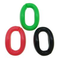 Akrylowy Pierścień łączący, Akryl, Płaski owal, mieszane kolory, 23x16mm, 1000komputery/torba, sprzedane przez torba