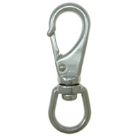 304 Stainless Steel Lobster Swivel Clasp, original color, 64.80mm, 12PCs/Lot, Sold By Lot
