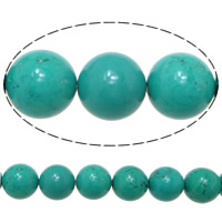 Turquoise Beads, Round, 10mm, Hole:Approx 1.5mm, Length:Approx 16 Inch, Approx 13Strands/KG, Approx 40PCs/Strand, Sold By KG