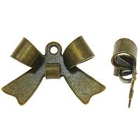 Moda wisiorki żelaza, żelazo, Kokarda, Platerowane kolorem starego brązu, bez zawartości niklu, ołowiu i kadmu, 15x10mm, otwór:około 1mm, 800komputery/torba, sprzedane przez torba