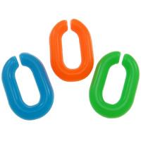 Akrylowy Pierścień łączący, Akryl, Płaski owal, mieszane kolory, 10x15mm, 2000komputery/torba, sprzedane przez torba